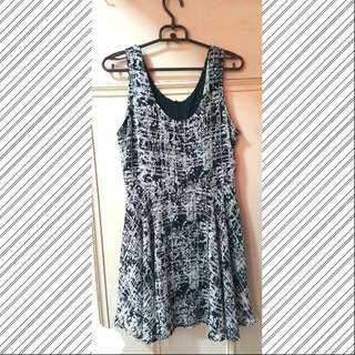 氣質雪紡印花連身裙