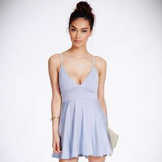 MISSGUIDED sky blue strappy dress
