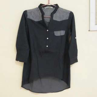Baju Bahan Semi Denim