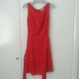 Red Polka Dot Retro Dress Size 6-10