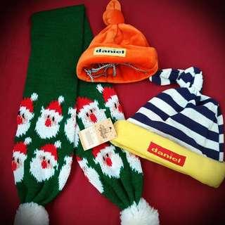 原價550元寵物小帽子兩頂和圍巾##新春八折