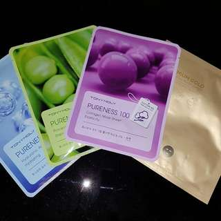 Korean Face masks Tonymoly Pureness 100 Nature Republic Premium Gold Foil