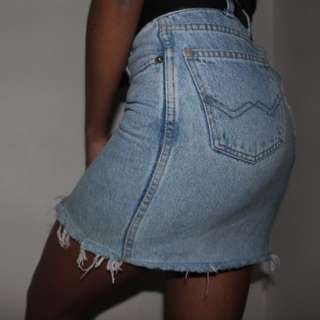 Vintage fitted denim skirt