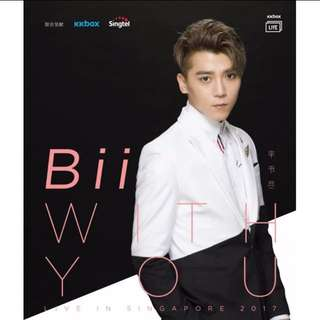 Bii Live In Singapore Concert Poster With Autograph