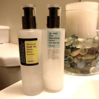 SET of CosRX Snail Essence + Birch Sap Lotion + FREE Korean Skincare Samples From Various Brands