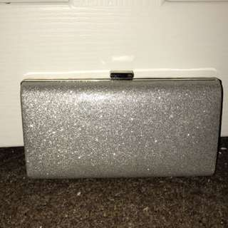 Silver Sparkly Clutch
