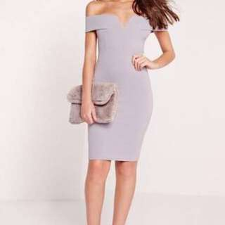 Misguided Off The Shoulder Bardot Dress