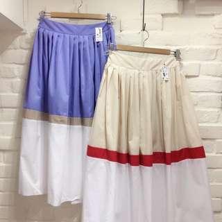(含運)韓版挺版西裝材質長裙-紫
