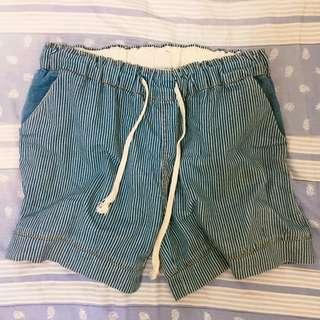 日系 藍色條紋褲