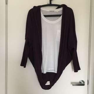 Purple Knit Shrug
