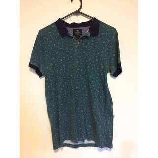 Cotton on Dark Green floral shirt Size XS