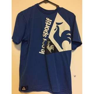 Le Cod Sportif Dark Blue logo shirt Size XXS