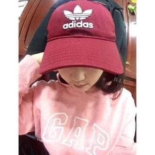 Adidas originals 老帽 酒紅 cap