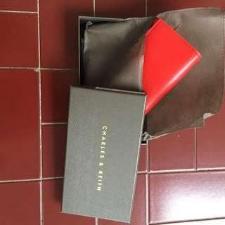 Original Charles & Keith Red Wallet