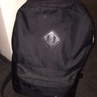 Black With Leather Hershel Backpack