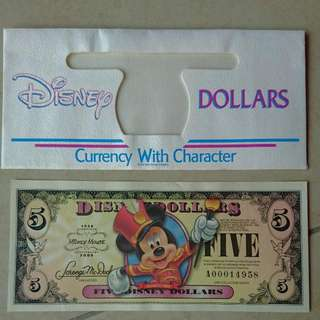 Disney Dollar 80th Anniversary $5
