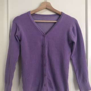 Knit Cardigan purple - ungu