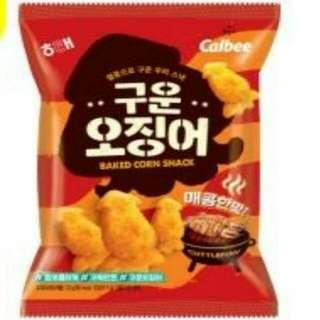 韓國零食 超可愛烤魷魚餅乾