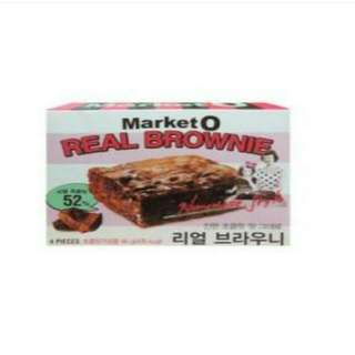 韓國零食 Market O布朗尼蛋糕 巧克力&抹茶