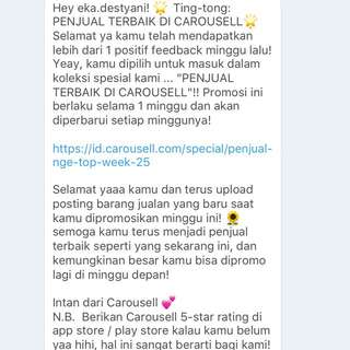 Thank You Carousell ☺️💕