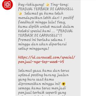 🎉Tingtong! 1st Time Becoming Best Seller Of Carousell🎊