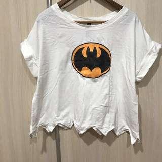 只穿過一次 Bat Man 短版上衣