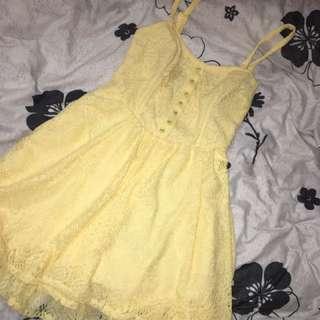 paper hearts yellow dress