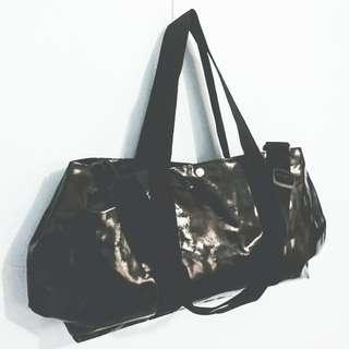 [less 50php] Black Stylish Duffle Bag