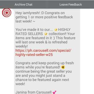 Thank You Carousel