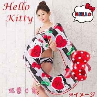 【妮醬日貨】KITTY 日本三麗鷗發售 90cm 安全氣閥 游泳圈 浮具 浮圈 761236