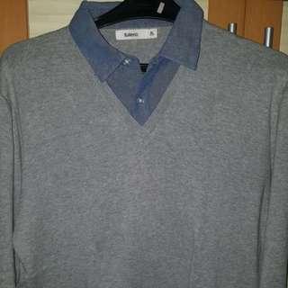 sweater kemeja good condition, jarang dipake👍