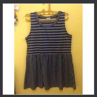 Sleeves Stripe Dress