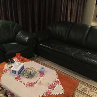 Leather Couch Suite