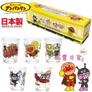 【妮醬日貨】麵包超人 日本製 好朋友大集合 5入 玻璃杯 果汁杯 杯子 177674
