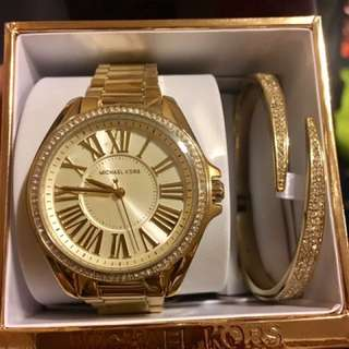 Brand new and Authentic Michael Kors Watch and Bracelet (MK3568A) Gift Set