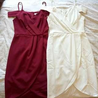Off Shoulder Overlap Dress