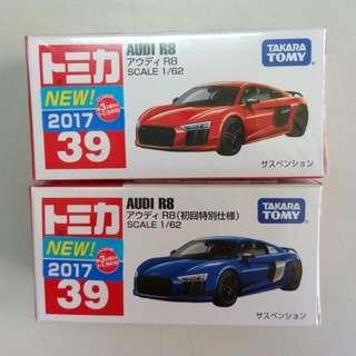 🚚 Tomica No.39 AUDI R8 (初回+一般)