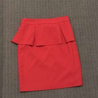 Forcast Red Corporate Skirt