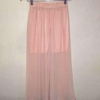 Peach Sheer Square Pants