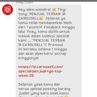 WoW Thanks Carousell 🙌🙌