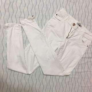 Bershka White Pants