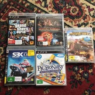 Assortment Of PS3 Games