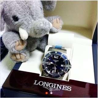 LONGINES 浪琴 征服者300米潛水機械腕錶-藍 / 39mm