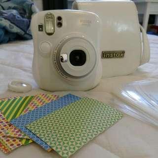拍立得mini25 白色 附相機包、手掛繩、充電器組、相片貼紙、相片套