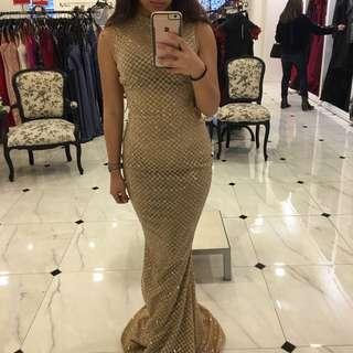 Portia & Scarlett Zachary Gold Formal Dress