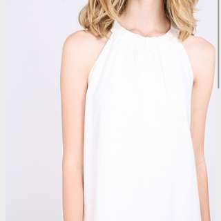 rwb fyemant dress (white) / maxi dress