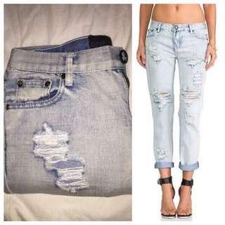 One Teaspoon Boyfriend Jeans Size 26 (size 8)