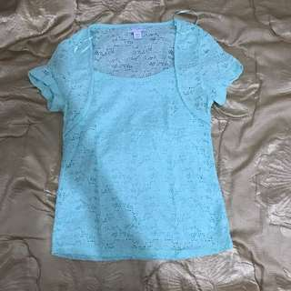 Cotton on lace top size L but can fit Size 8