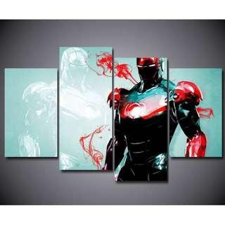 Framed Printed HD Ironman Tony Stark Sketch Design Bedroom Canvas Print Poster for Room Decoration Artwork