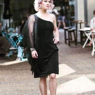 Little Black Dress With Sheer Detail